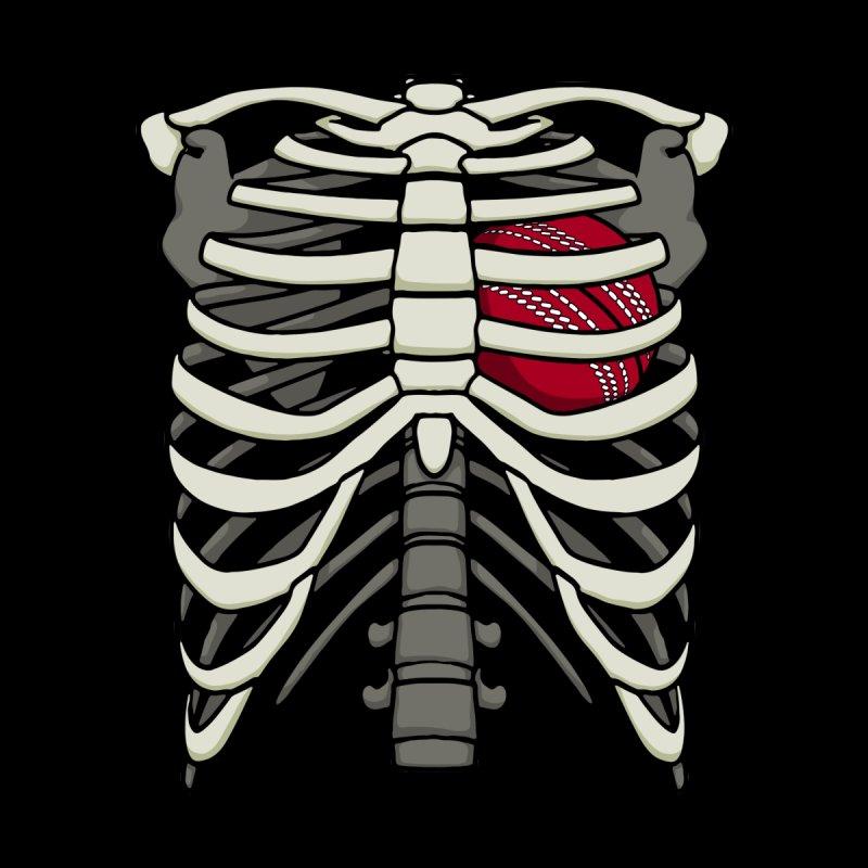 Ribcage Halloween Cricket Player Bowler Skeleton Ball Heart Kids Toddler Zip-Up Hoody by Grandio Design Artist Shop