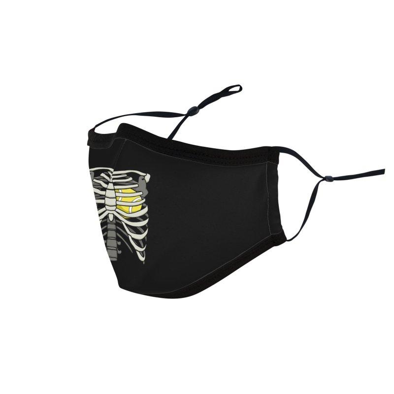 Ribcage Halloween Tennis Player Skeleton Ball Heart Accessories Face Mask by Grandio Design Artist Shop