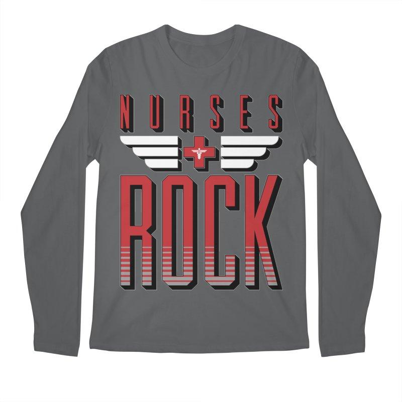 Nurses ROCK Men's Longsleeve T-Shirt by Grandio Design Artist Shop