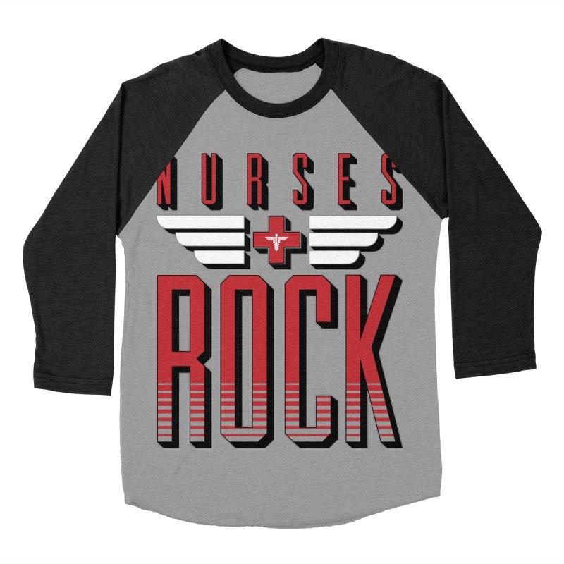 Nurses ROCK Men's Baseball Triblend T-Shirt by Grandio Design Artist Shop