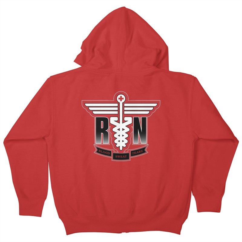 Registered Nurse Kids Zip-Up Hoody by Grandio Design Artist Shop