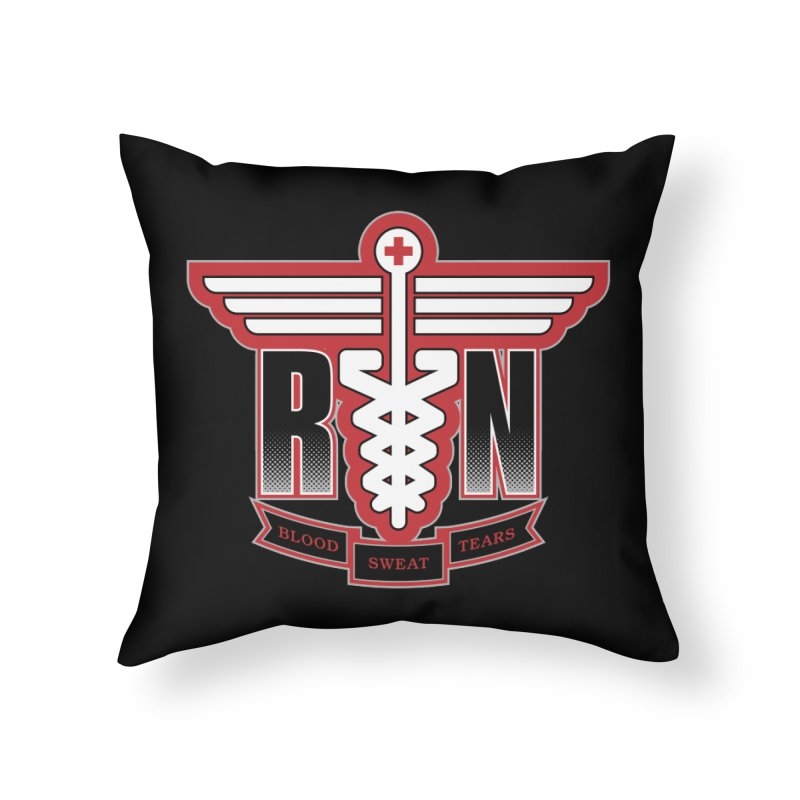 Registered Nurse Home Throw Pillow by Grandio Design Artist Shop