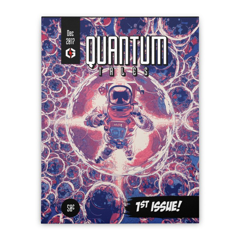 Quantum Tales 1st Issue Home Stretched Canvas by Grandio Design Artist Shop