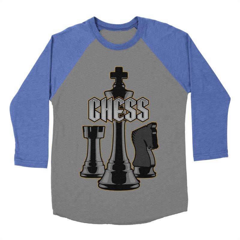 Chess Royalty Men's Baseball Triblend T-Shirt by Grandio Design Artist Shop