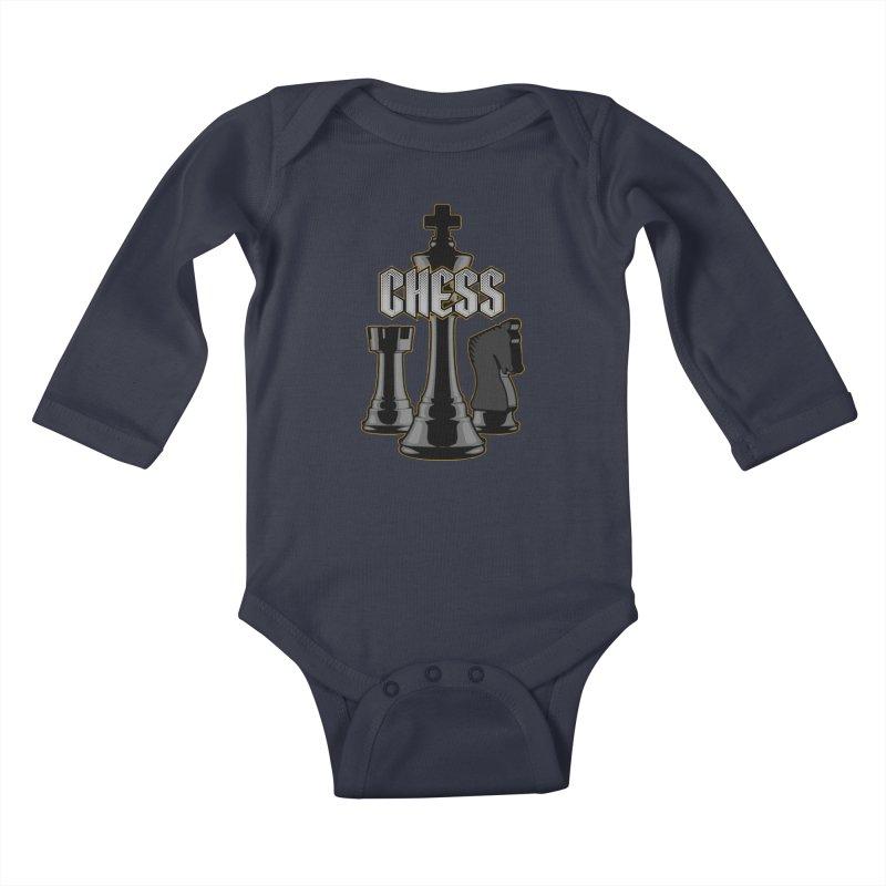 Chess Royalty Kids Baby Longsleeve Bodysuit by Grandio Design Artist Shop