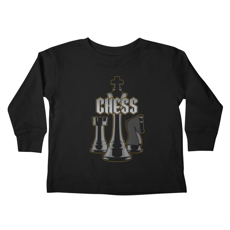 Chess Royalty Kids Toddler Longsleeve T-Shirt by Grandio Design Artist Shop