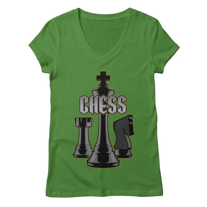 Chess Royalty Women's V-Neck by Grandio Design Artist Shop