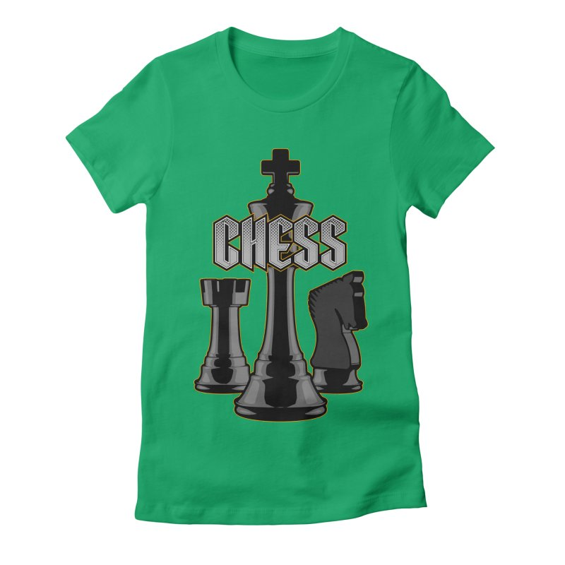 Chess Royalty Women's Fitted T-Shirt by Grandio Design Artist Shop