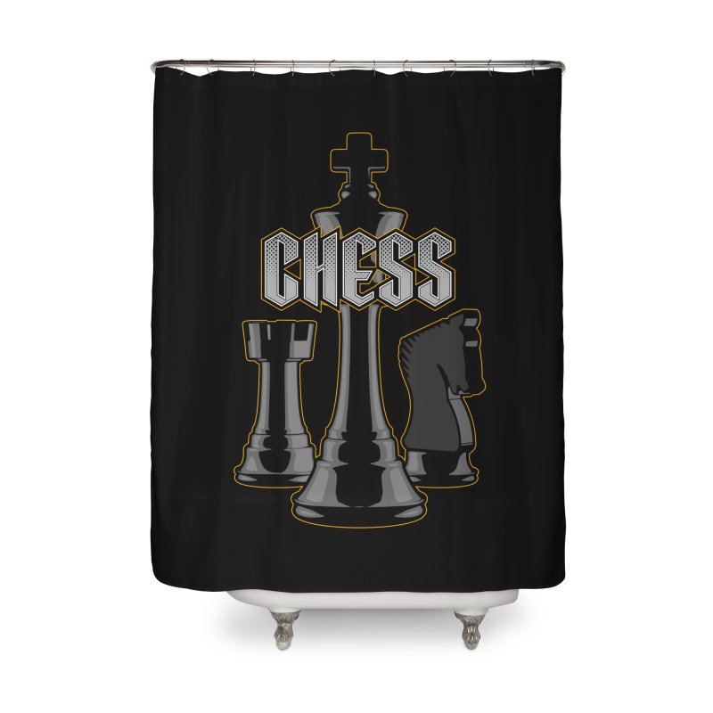 Chess Royalty Home Shower Curtain by Grandio Design Artist Shop