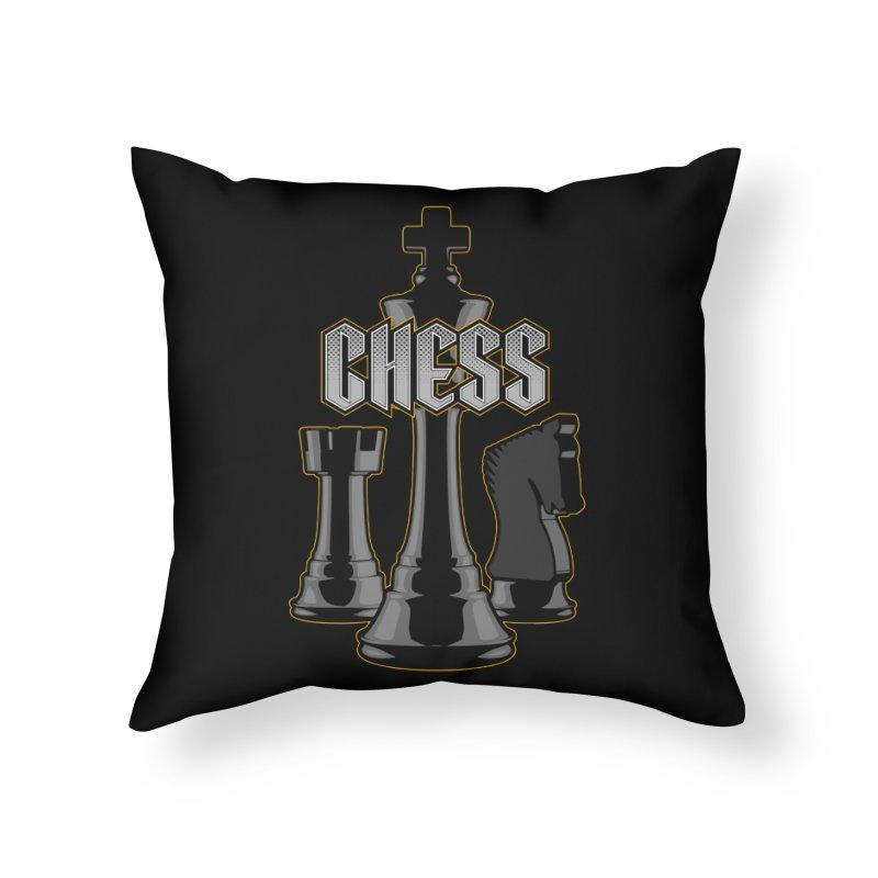 Chess Royalty Home Throw Pillow by Grandio Design Artist Shop
