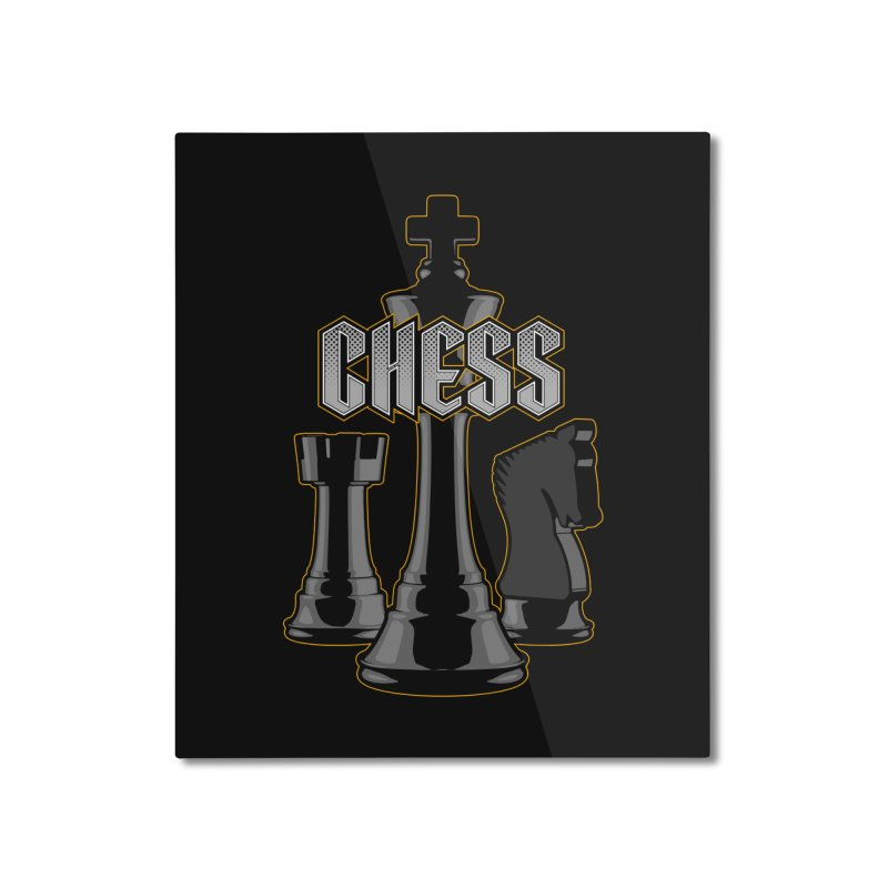 Chess Royalty Home Mounted Aluminum Print by Grandio Design Artist Shop