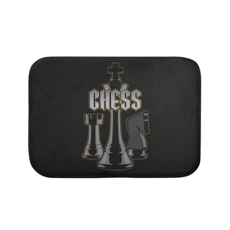 Chess Royalty Home Bath Mat by Grandio Design Artist Shop