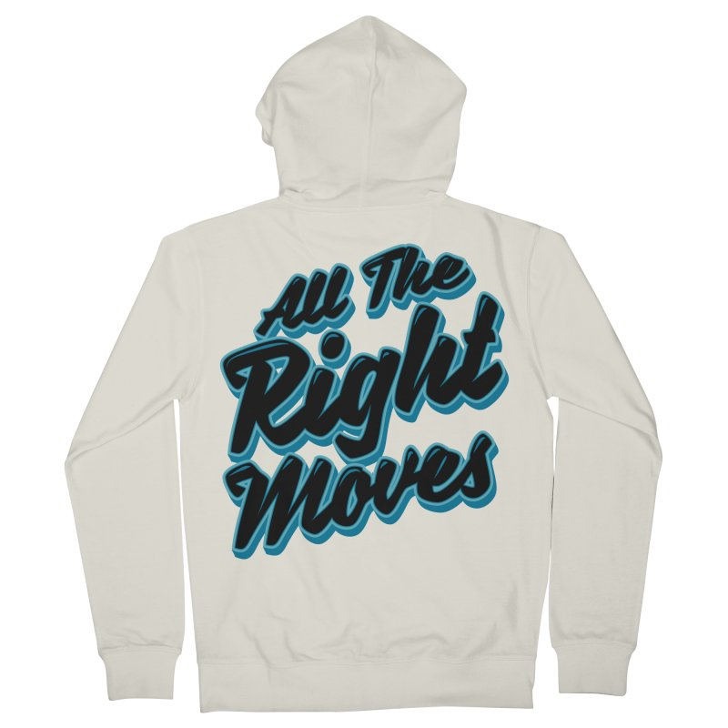 All The Right Chess Moves Men's Zip-Up Hoody by Grandio Design Artist Shop