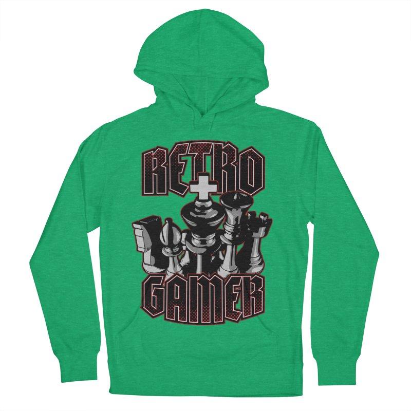 Chess Retro Gamer Men's Pullover Hoody by Grandio Design Artist Shop