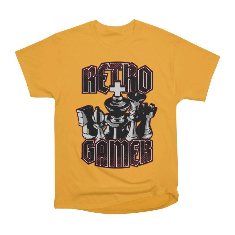 Chess Retro Gamer Men's Classic T-Shirt by Grandio Design Artist Shop