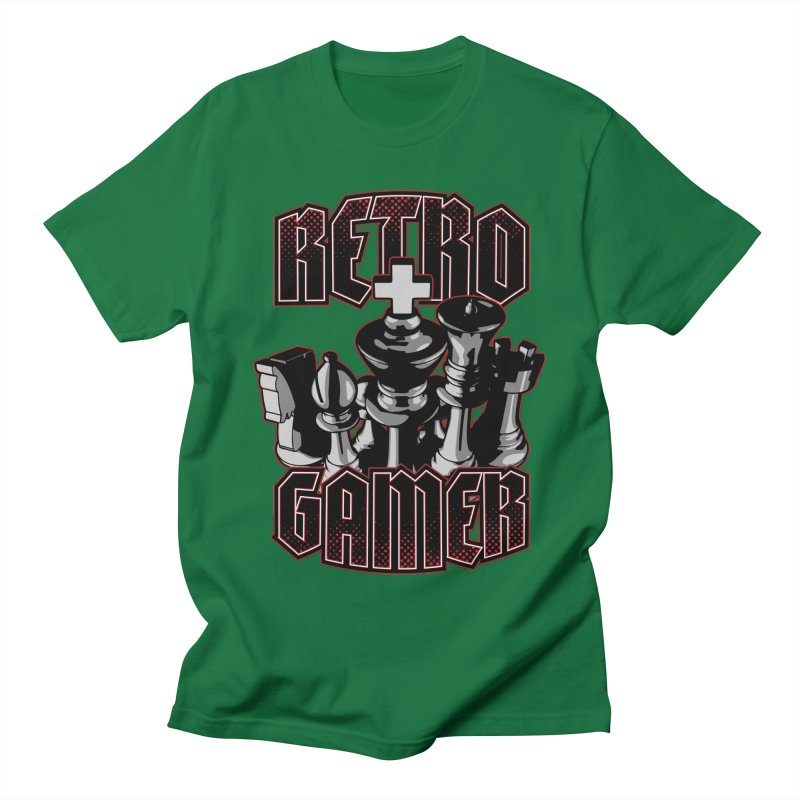 Chess Retro Gamer Men's T-Shirt by Grandio Design Artist Shop