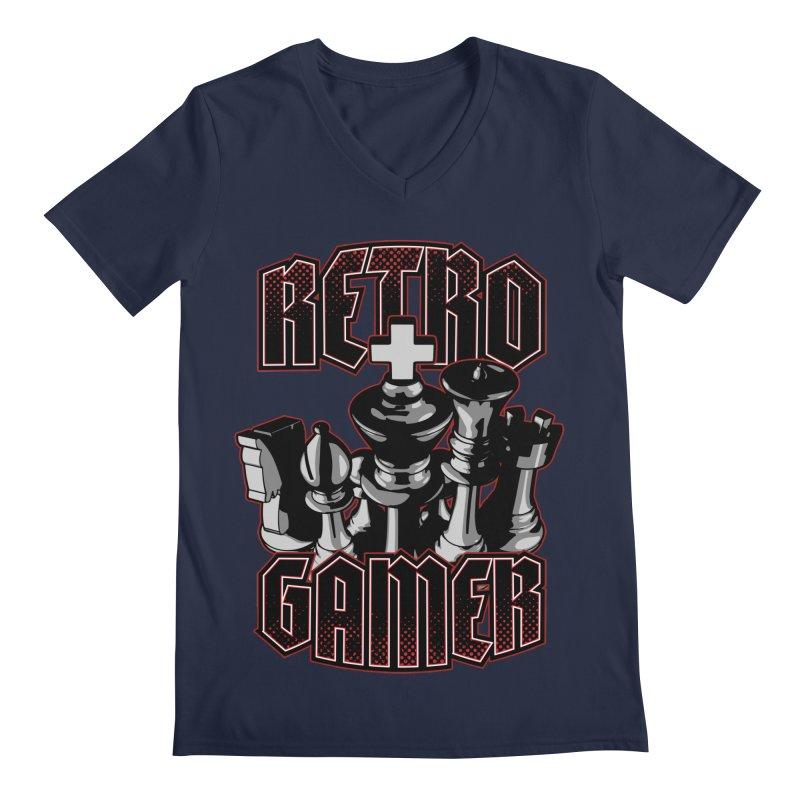 Chess Retro Gamer Men's V-Neck by Grandio Design Artist Shop