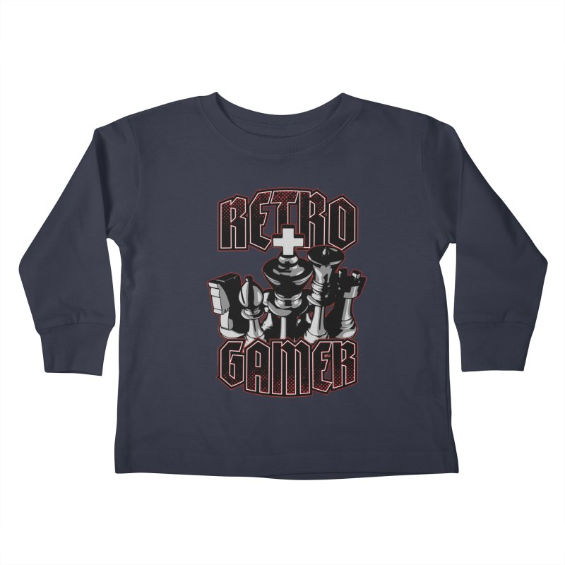 Chess Retro Gamer Kids Toddler Longsleeve T-Shirt by Grandio Design Artist Shop