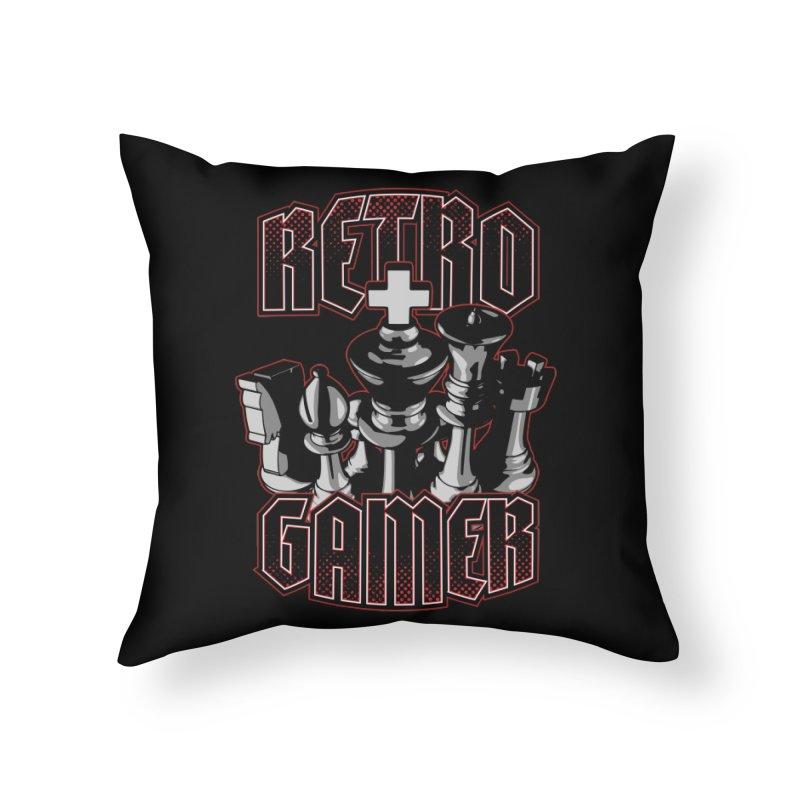 Chess Retro Gamer Home Throw Pillow by Grandio Design Artist Shop