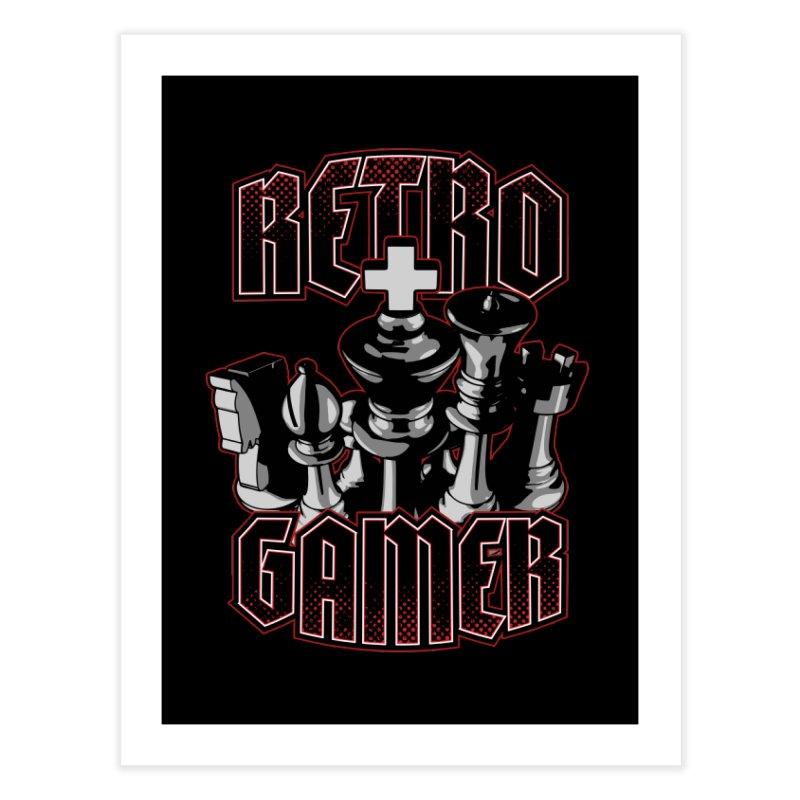 Chess Retro Gamer Home Fine Art Print by Grandio Design Artist Shop