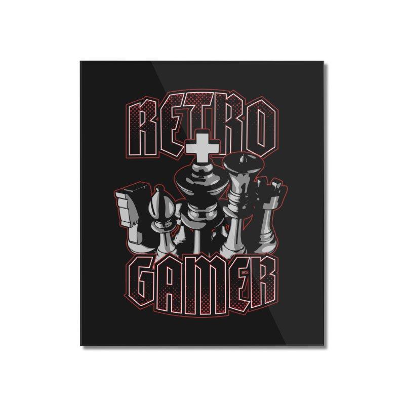 Chess Retro Gamer Home Mounted Acrylic Print by Grandio Design Artist Shop