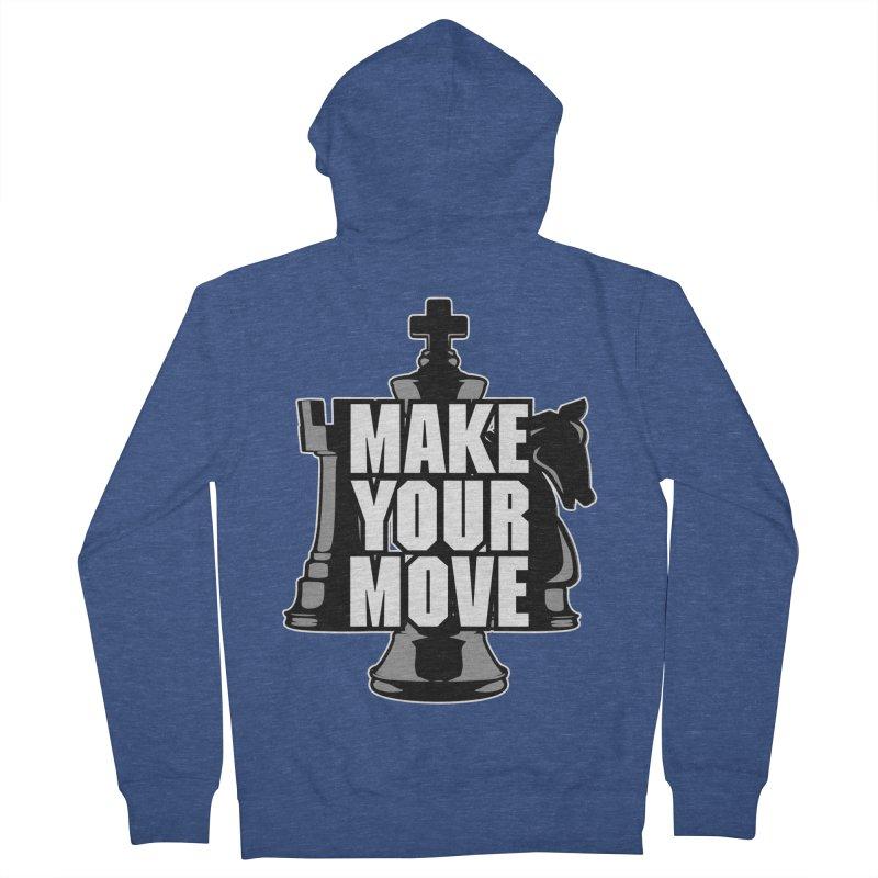Make Your Move Chess Men's Zip-Up Hoody by Grandio Design Artist Shop