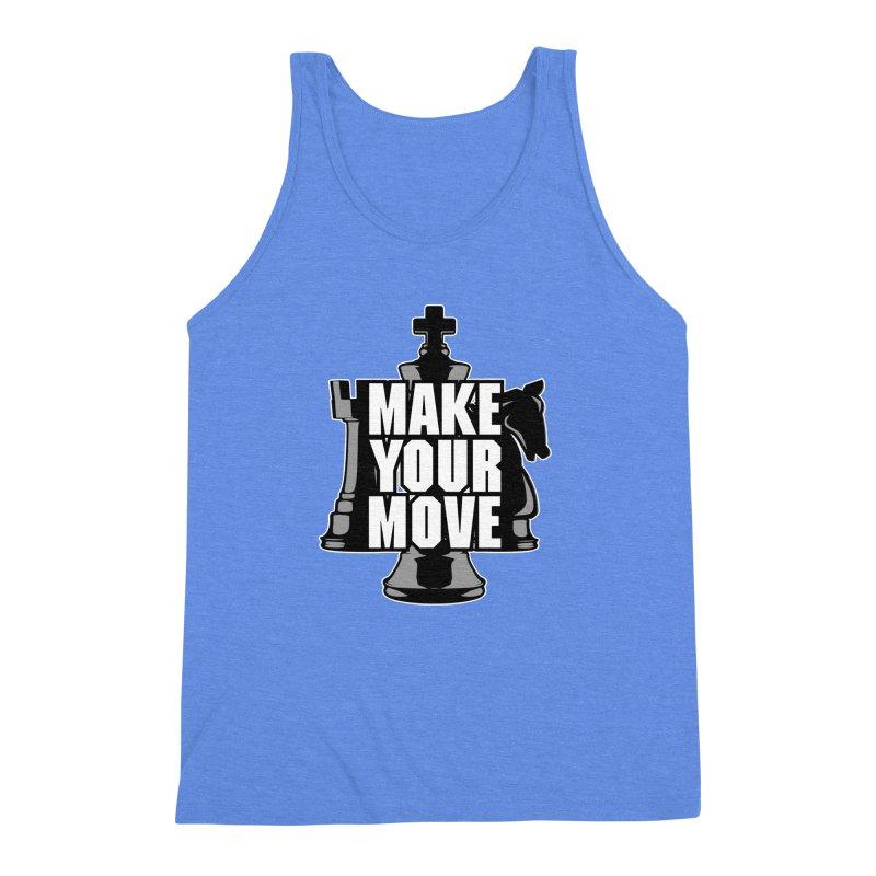 Make Your Move Chess Men's Triblend Tank by Grandio Design Artist Shop