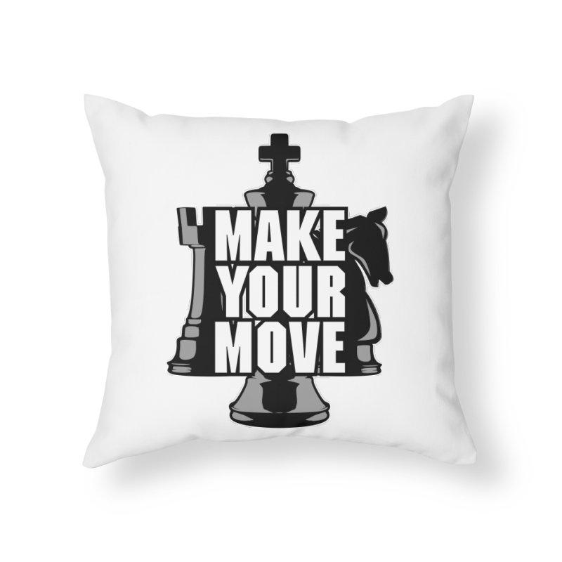 Make Your Move Chess Home Throw Pillow by Grandio Design Artist Shop