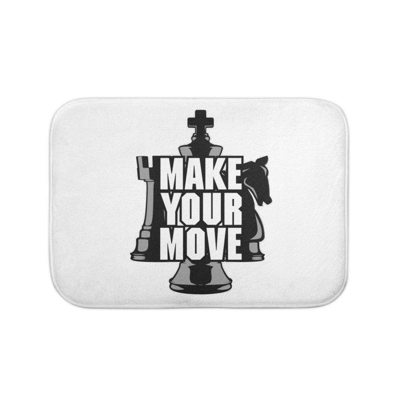 Make Your Move Chess Home Bath Mat by Grandio Design Artist Shop