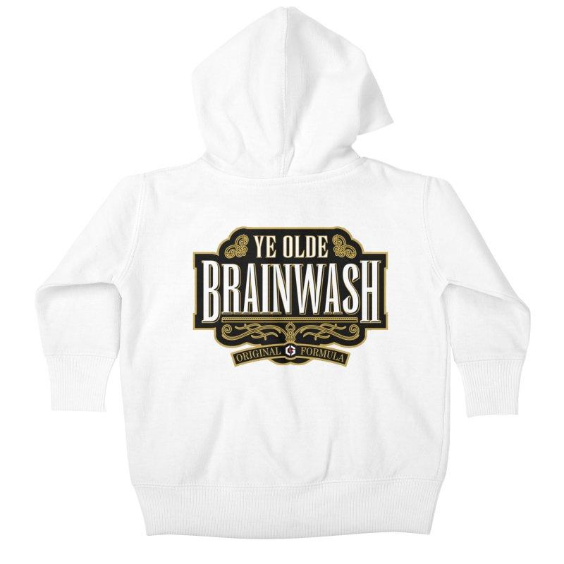 Ye Olde BRAINWASH Kids Baby Zip-Up Hoody by Grandio Design Artist Shop