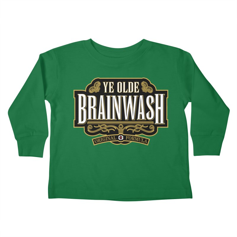 Ye Olde BRAINWASH Kids Toddler Longsleeve T-Shirt by Grandio Design Artist Shop