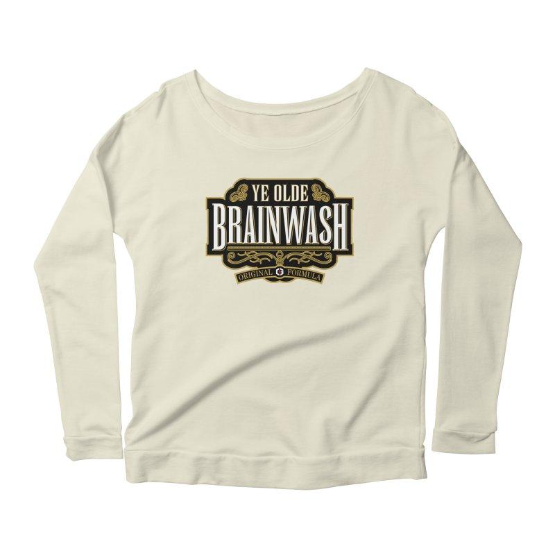Ye Olde BRAINWASH Women's Longsleeve Scoopneck  by Grandio Design Artist Shop