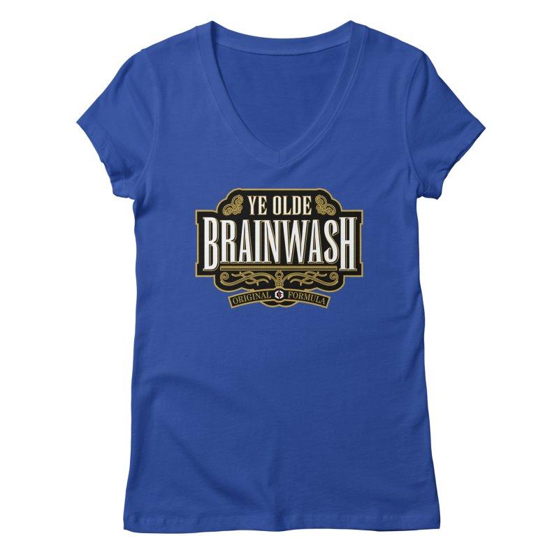 Ye Olde BRAINWASH Women's V-Neck by Grandio Design Artist Shop