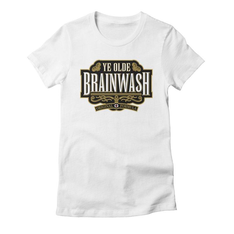 Ye Olde BRAINWASH Women's Fitted T-Shirt by Grandio Design Artist Shop