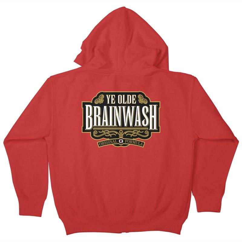 Ye Olde BRAINWASH Kids Zip-Up Hoody by Grandio Design Artist Shop