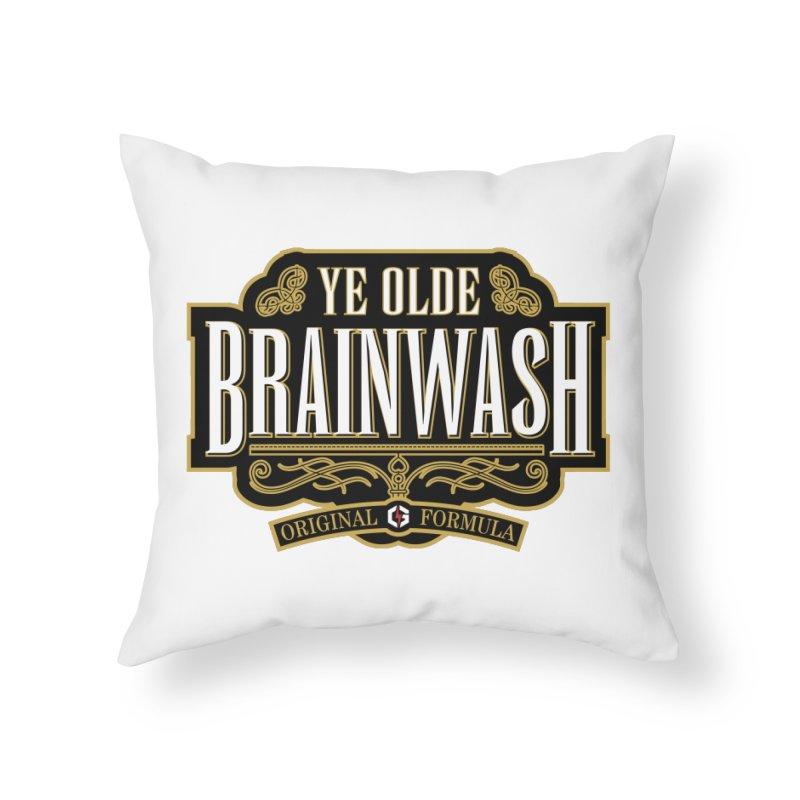 Ye Olde BRAINWASH Home Throw Pillow by Grandio Design Artist Shop