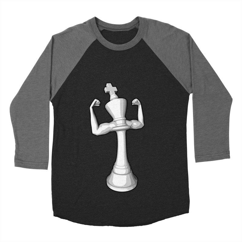 The White King Men's Baseball Triblend T-Shirt by Grandio Design Artist Shop