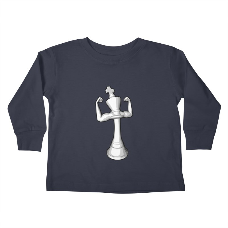 The White King Kids Toddler Longsleeve T-Shirt by Grandio Design Artist Shop