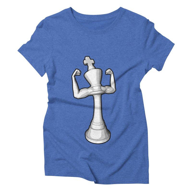 The White King Women's Triblend T-Shirt by Grandio Design Artist Shop