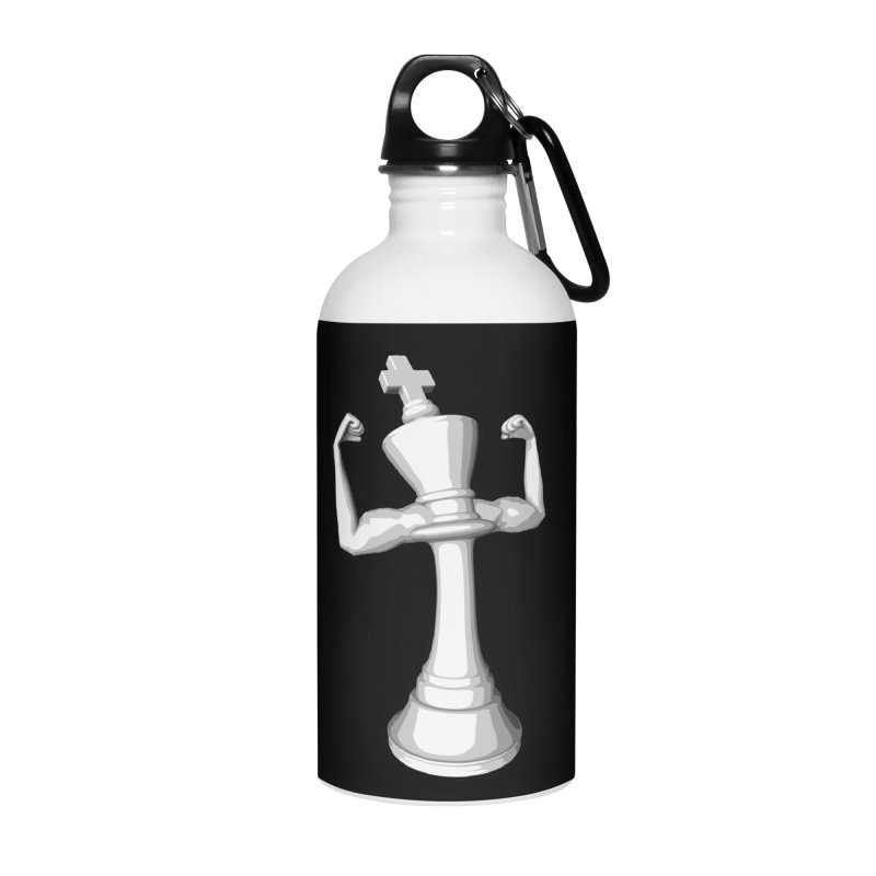 The White King Accessories Water Bottle by Grandio Design Artist Shop