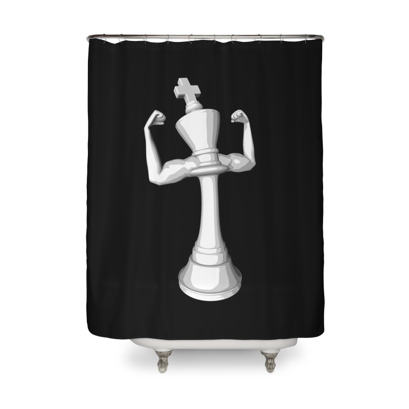 The White King Home Shower Curtain by Grandio Design Artist Shop