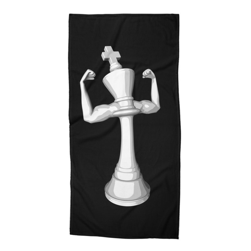 The White King Accessories Beach Towel by Grandio Design Artist Shop