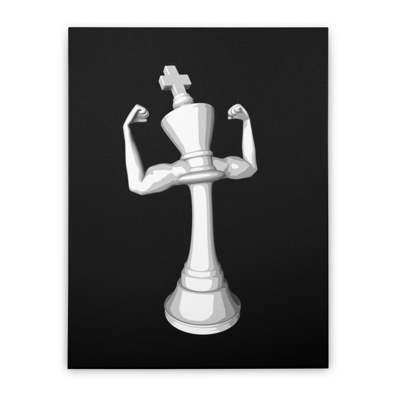 The White King Home Stretched Canvas by Grandio Design Artist Shop