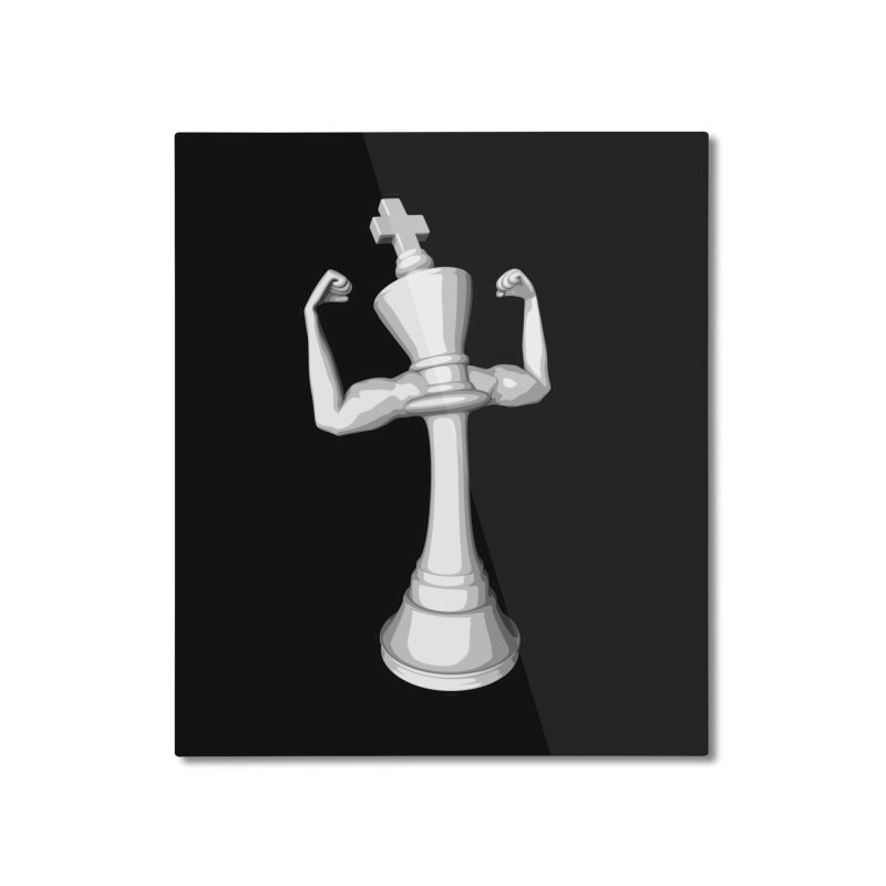 The White King Home Mounted Aluminum Print by Grandio Design Artist Shop