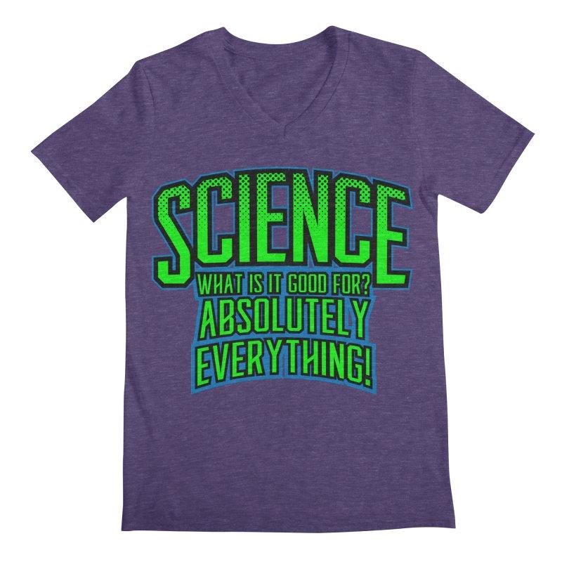 Science is Good Men's V-Neck by Grandio Design Artist Shop