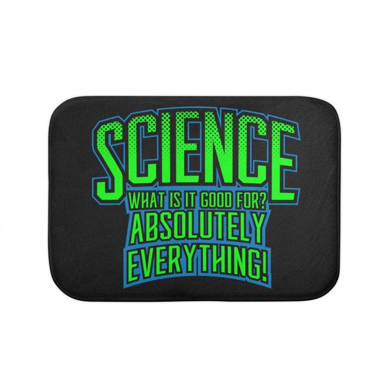 Science is Good Home Bath Mat by Grandio Design Artist Shop