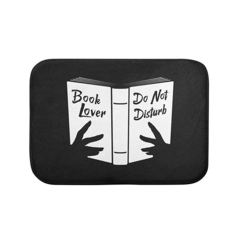 Book Lover, Do Not Disturb Home Bath Mat by Grandio Design Artist Shop