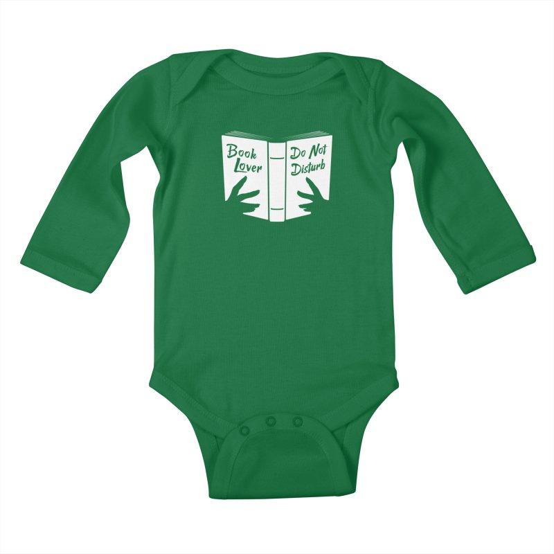 Book Lover, Do Not Disturb Kids Baby Longsleeve Bodysuit by Grandio Design Artist Shop
