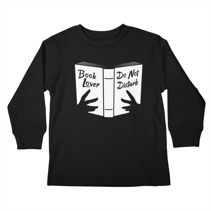 Book Lover, Do Not Disturb Kids Longsleeve T-Shirt by Grandio Design Artist Shop