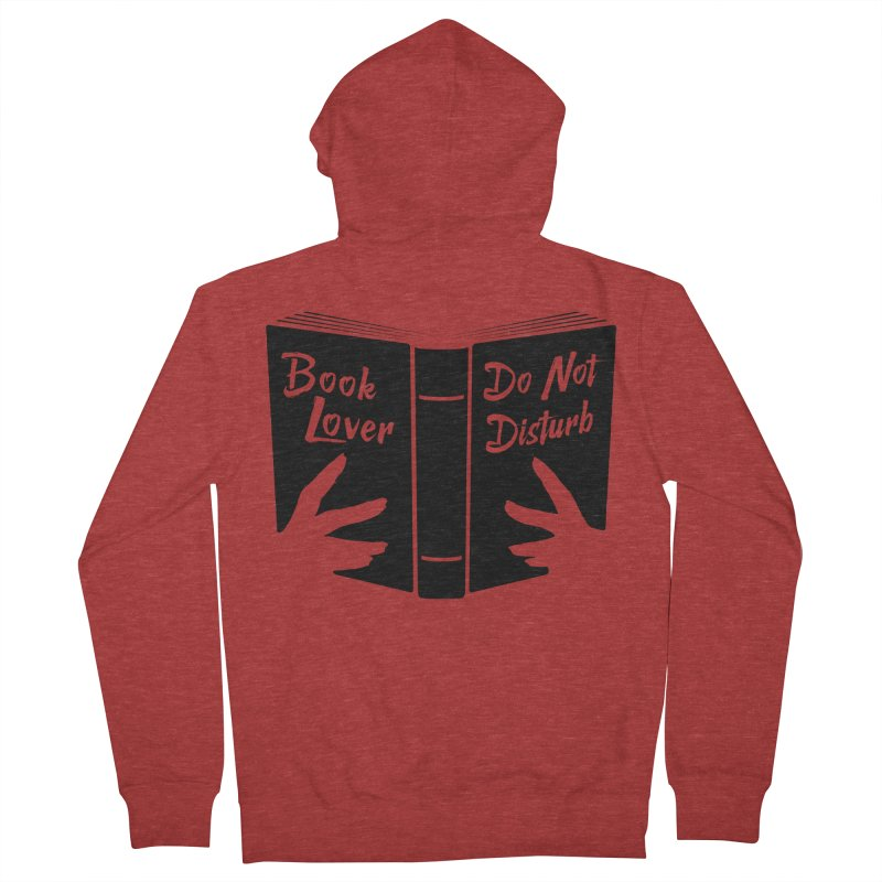 Book Lover, Do Not Disturb II Men's Zip-Up Hoody by Grandio Design Artist Shop